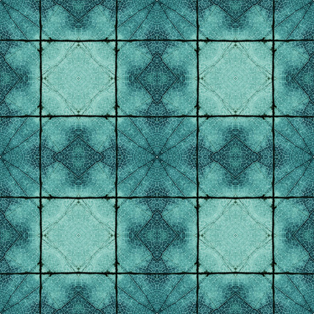 Complex symmetrical seamless organic pattern blue texture