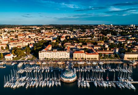 Aerial view from Pula Marina, Croatia