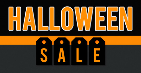 Halloween sale business background