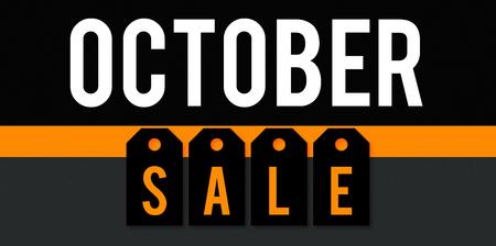 October sale business background