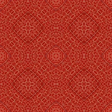 Complex symmetrical seamless organic pattern red texture