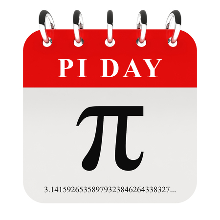 Pi day - pi symbol on calendar page