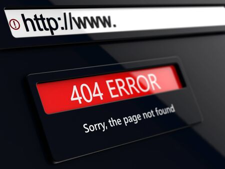404 error, page not found, message on conceptual design web page 免版税图像