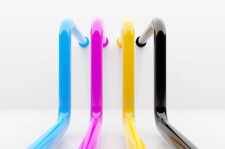 CMYK colors pipelines industrial printing