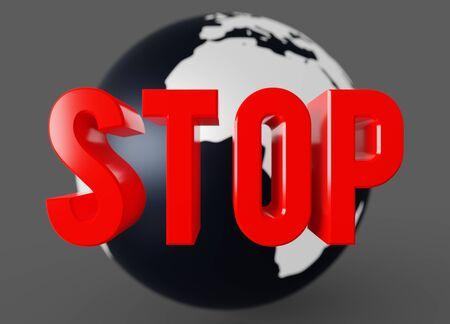 Global economic meltdown, the planet has stopped 3D render