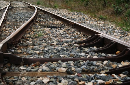 Train track and ballast detail