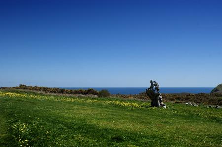 Landscape in Estaca de Bares, Galicia, Spain Stock Photo