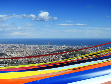 Splendid view of Barcelona from the Tibidado