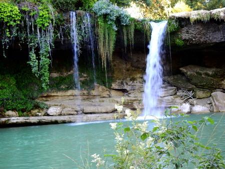 Tobalina waterfall in summer