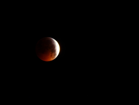 Lunar Eclipse of Blood January 2019 Stok Fotoğraf