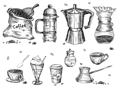 etchings: Coffee ware