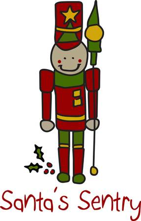 seem: Our fun take on the traditional Christmas nutcracker is a must for holiday decoration.  He stitches out quick and the satin stitch outline makes him seem to leap off the fabric