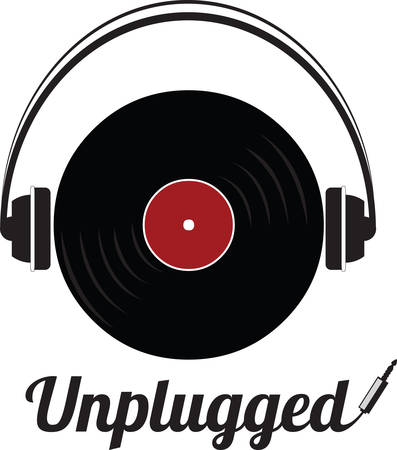 collectibles: Record players are collectibles now. Use this image with your next design. Illustration