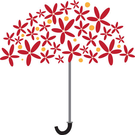 A device consisting of a circular canopy of cloth on a folding metal frame supported by a central rod used as protection against rain pick those designs by Concord