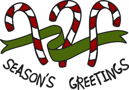 A holiday treat sure to please.  These sweet candy canes are the perfect way to decorate your home or apparel for the holidays.