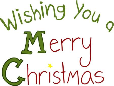Merry Christmas is a spoken or written greeting traditionally used on or before the Christmas holiday. Add just a touch of holiday cheer with this simple and fun Christmas greeting.