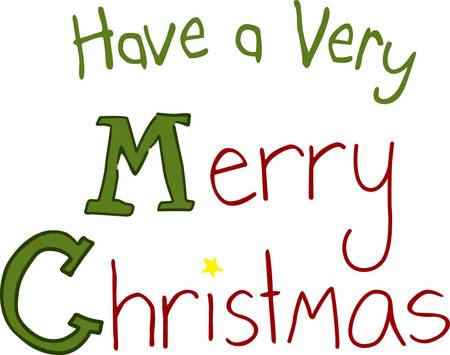 traditionally: Merry Christmas is a spoken or written greeting traditionally used on or before the Christmas holiday. Add just a touch of holiday cheer with this simple and fun Christmas greeting.