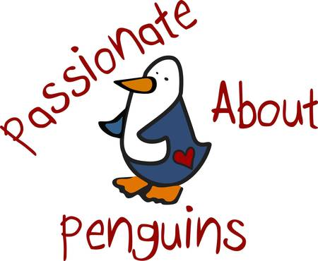 We are just passionate about this sweet penguin  The heart tattoo on his backside is sure to generate a smile.