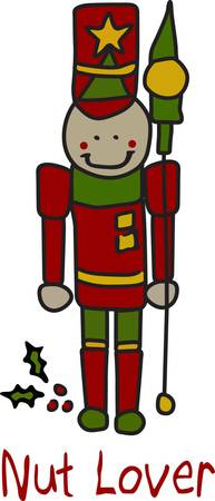 he is a traditional: Our fun take on the traditional Christmas nutcracker is a must for holiday decoration.  He stitches out quick and the satin stitch outline makes him seem to leap off the fabric