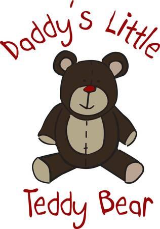 Nicht viel ist süßer als ein knuddeliges Teddybär. Dieses Kuscheltier ist ein guter Weg, um Kinderkleidung oder dcor verkleiden sich Standard-Bild - 43954604