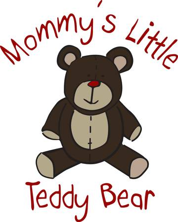 Not much is sweeter than a cuddly teddy bear.  This cuddly toy is a great way to dress up children's wear or dcor