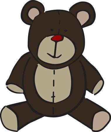 Nicht viel ist süßer als ein knuddeliges Teddybär. Dieses Kuscheltier ist ein guter Weg, um Kinderkleidung oder dcor verkleiden sich Standard-Bild - 43954606