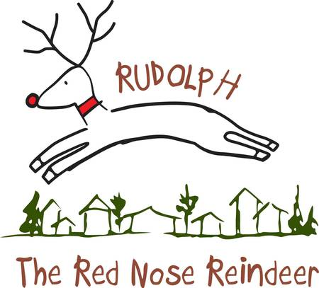 ours: Yes reindeer really do fly  at least ours does  Stitch this reindeer on your holiday projects when you are looking for something better than ordinary