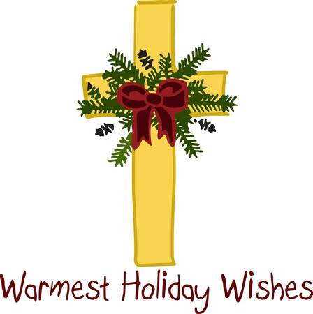 warmest: This holiday cross is a beautiful piece to embellish your table linens for the Christmas season.  The design is fill stitched creating a silky effect while the greenery adds an element of texture.