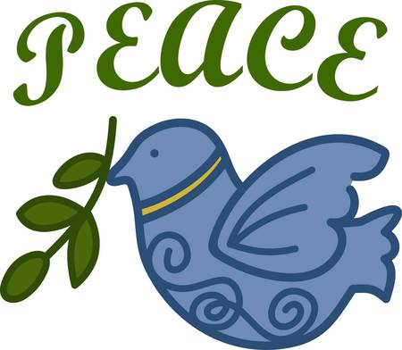 Holiday time is a season for good will towards men and peace on earth.  Stitch this peace dove to convey the peaceful spirit of the holidays.