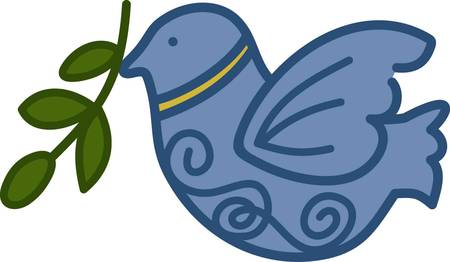 convey: Holiday time is a season for good will towards men and peace on earth.  Stitch this peace dove to convey the peaceful spirit of the holidays.