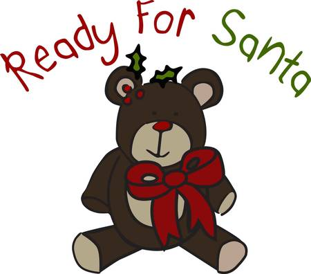 all in: Merry Christmas all dressed up with a bow  There are so many places to stitch this sweet holiday bear he is sure to be a favorite in your collection