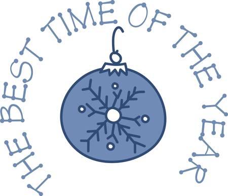 장식품과 눈송이는 대부분의 크리스마스 dcor의 전통적인 부분입니다. 이 심플하면서도 사랑스러운 장식은 휴일 자수 팔레트 위에 dcor와 눈송이를 가져