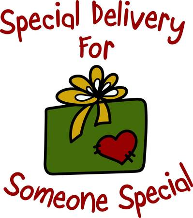 A special gift of love for the holiday season.  This pretty package with a heart is a great way to decorate a special gift bag that will become as prized as the gift it contains