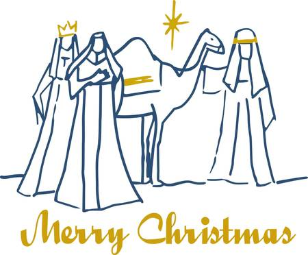 wise men: This simple scene of the three wise men is synonymous with Christmas.  Add a touch of gold metallic thread and you have created a stunning holiday decoration.