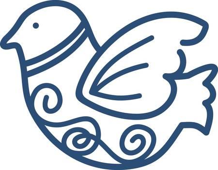 Unsere Wirbler Vogel ist klein genug, um eine schnelle Masche, aber groß genug, um einen großen Einfluss auf Ihr Projekt zu machen. Die elegante Linienführung dieses Vogels machen es zu einem beeindruckenden Teil des Projekts. Standard-Bild - 40648742