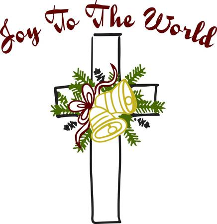 dcor: Decorate for Christmas with this unique cross and holiday arrangement.  It is a tasteful and elegant embellishment for church holiday dcor.