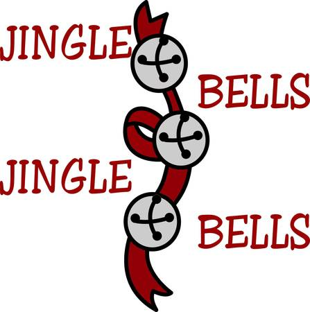 Sleigh bells jingle a cheery holiday sound.  This happy holiday dcor is a lovely way to embellish your Christmas table linens.