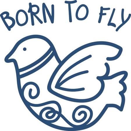 Unsere Wirbler Vogel ist klein genug, um eine schnelle Masche, aber groß genug, um einen großen Einfluss auf Ihr Projekt zu machen. Die elegante Linienführung dieses Vogels machen es zu einem beeindruckenden Teil des Projekts. Standard-Bild - 40648789