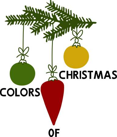 Celebrate Christmas with colorful Christmas tree ornaments to brighten up the occasion. Ilustrace