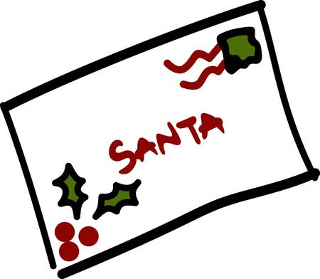 How can Santa know what you want for Christmas without that special letter  This cute letter is an out of the ordinary decoration for a holiday card display holder