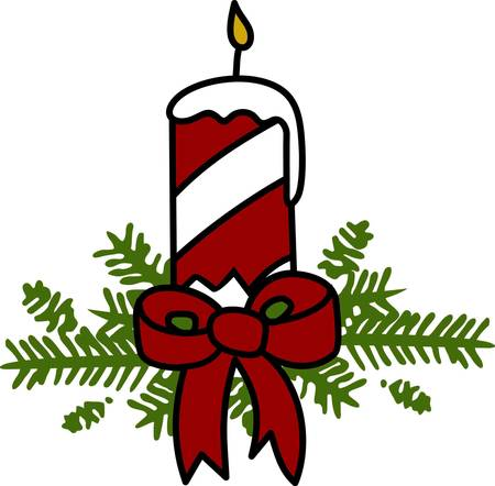 attract: Tie this christmas tree to christmas tree to attract the children . Illustration