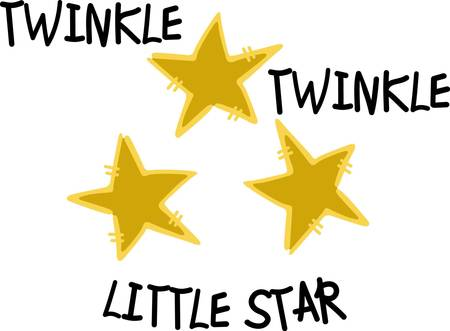 twinkle: Twikle twinkle little star  you were born to shine  Super fun way to add some sparkle to apparel. Illustration