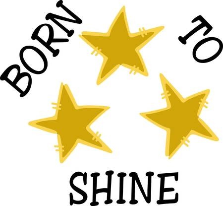 twinkles: Twikle twinkle little star  you were born to shine  Super fun way to add some sparkle to apparel. Illustration