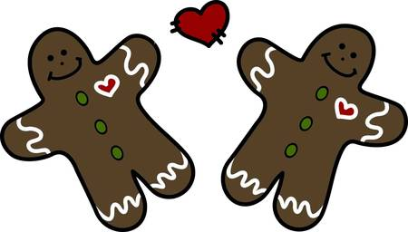 Love and the holidays go hand in hand.  Our gingerbread sweethearts celebrate the holidays with their own special magic.