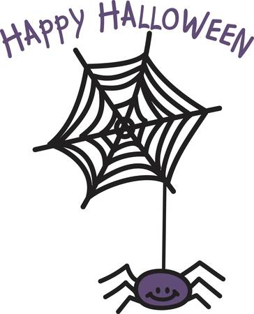 is magnificent: Our little spider has been toiling to create this magnificent web.  All ready to create special Halloween delights for your little goblins.
