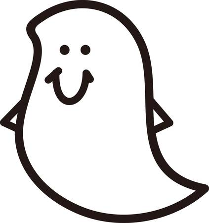 We have the happiest ghost you will ever find.  This phantom of Halloween is great on kids shirts or decorations for your spooky party.