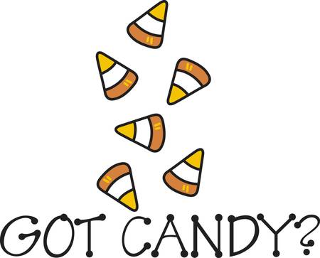 sweet tooth: Feed the sweet tooth with sugary candy corn  Join this design end to end to create a sweet border. Illustration