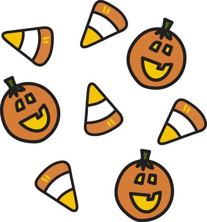 Feed the sweet tooth with sugary candy corn  Join this design end to end to create a sweet border. Illustration