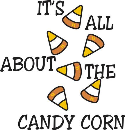 Voed de zoete tand met zoete snoep maïs Doe dit ontwerp begin tot eind aan een zoete grens te creëren. Stock Illustratie