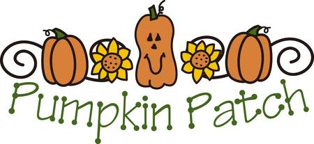 flair: Decorate for fall with a floral pumpkin spray.  End swirls add a trendy flair to any project. Illustration